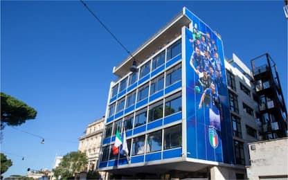 Nuovo look per la sede della Figc. FOTO