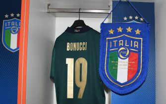ROME, ITALY - OCTOBER 12:  A general view of the Italy dressing room ahead of the UEFA Euro 2020 qualifier between Italy and Greece on October 12, 2019 in Rome, Italy.  (Photo by Claudio Villa/Getty Images)