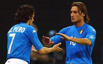 """Del Piero: """"Rammarico aver giocato poco con Totti"""""""