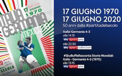 """Italia-Germania 4-3, il """"Match del Secolo"""" su Sky"""