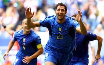 © Giampiero Sposito\ LaPresse22-06-2006 Amburgosport - calcioCampionato del Mondo Germania 2006 Rep. Ceca-ItaliaNella foto l'esultanza di Marco Materazzi