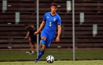 VERONA, ITALY - SEPTEMBER 05: Gabriele Corbo of Italy U20  in action during the U20 8 Nations Tournament match between Italy and Poland on September 5, 2019 in Caldiero near Verona, Italy.  (Photo by Alessandro Sabattini/Getty Images)