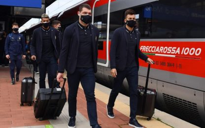Italia a Reggio Emilia, Mancini e Immobile a casa