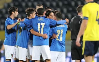 L'Italia U21 non si ferma: 4-1 anche alla Svezia