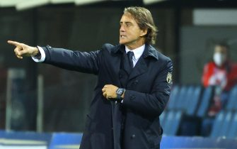 Italy's head Coach Roberto Mancini gestures during the UEFA Nations League soccer match between Italy and Netherlands, Bergamo, Italy, 14 October 2020ANSA/PAOLO MAGNI