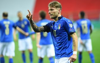 Ciro Immobile of Italy in action during the FIFA World Cup 2022 Qatar qualifying match between Italy and Northern Ireland on March 25, 2021 at Stadio Ennio Tardini in Parma, Italy. (Photo by Roberto Ramaccia / INA Photo Agency)