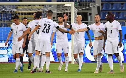 Bernardeschi trascina l'Italia: 7-0 a San Marino