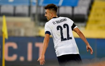 Italy's Stephan El Shaarawy celebrates after scoring during the friendly match between Italy and Moldavia at the Artemio Franchi stadium in Florence, Italy, 7 October 2020ANSA/CLAUDIO GIOVANNINI