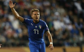 Ciro Immobile #17, ITA during their European Championship 2020 Qualifying round match Finland - Italy at the Tampere Stadion 8. September 2019 in Tampere, Finland.  (Kalle Parkkinen/Newspix24)