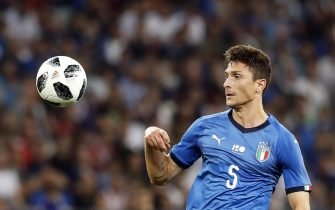 Mattia Caldara of Italy in action during the International Friendly soccer match between France and Italy in Nice, France, 01 June 2018.