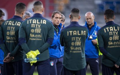 """Mancini: """"Centravanti per l'Europeo già decisi"""""""