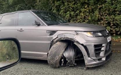Incidente per Aguero: auto danneggiata, lui illeso
