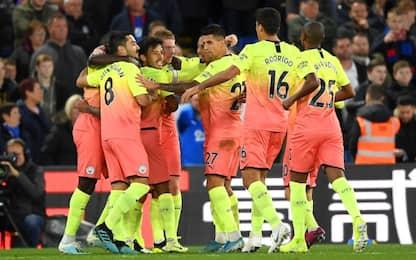 Il City ritrova i tre punti: Crystal Palace ko 2-0