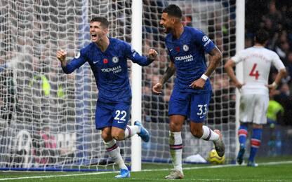 Abraham-Pulisic, 2-0 Chelsea: 2° posto per Lampard