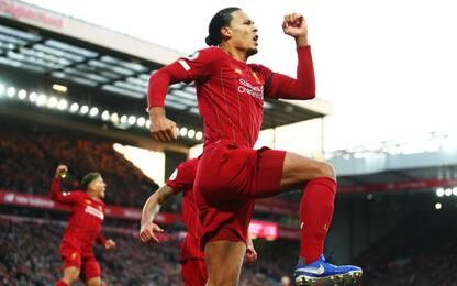 Doppio Van Dijk, Liverpool a +11. Vince ancora Mou