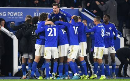 Leicester, vittoria e secondo posto. Pari Arsenal