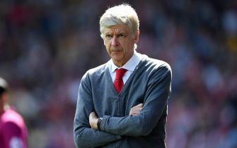 HUDDERSFIELD, ENGLAND - MAY 13:  Arsene Wenger, Manager of Arsenal looks on during the Premier League match between Huddersfield Town and Arsenal at John Smith's Stadium on May 13, 2018 in Huddersfield, England.  (Photo by Shaun Botterill/Getty Images)