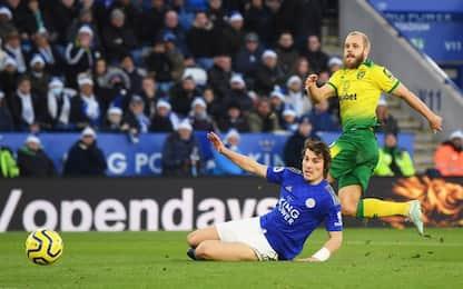 Pukki ferma il Leicester, il Chelsea cade in casa
