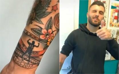 Cutrone non dimentica il Milan: tatuaggio con data