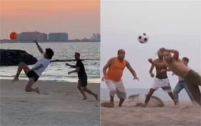 Joao Felix, che magia in spiaggia a Dubai! VIDEO