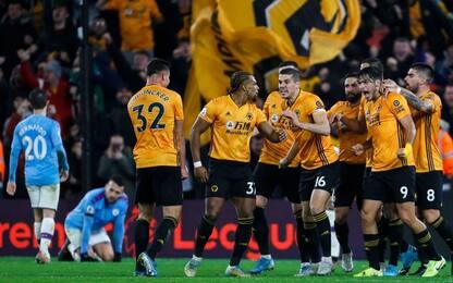 City ribaltato 3-2 dai Wolves: Klopp in fuga