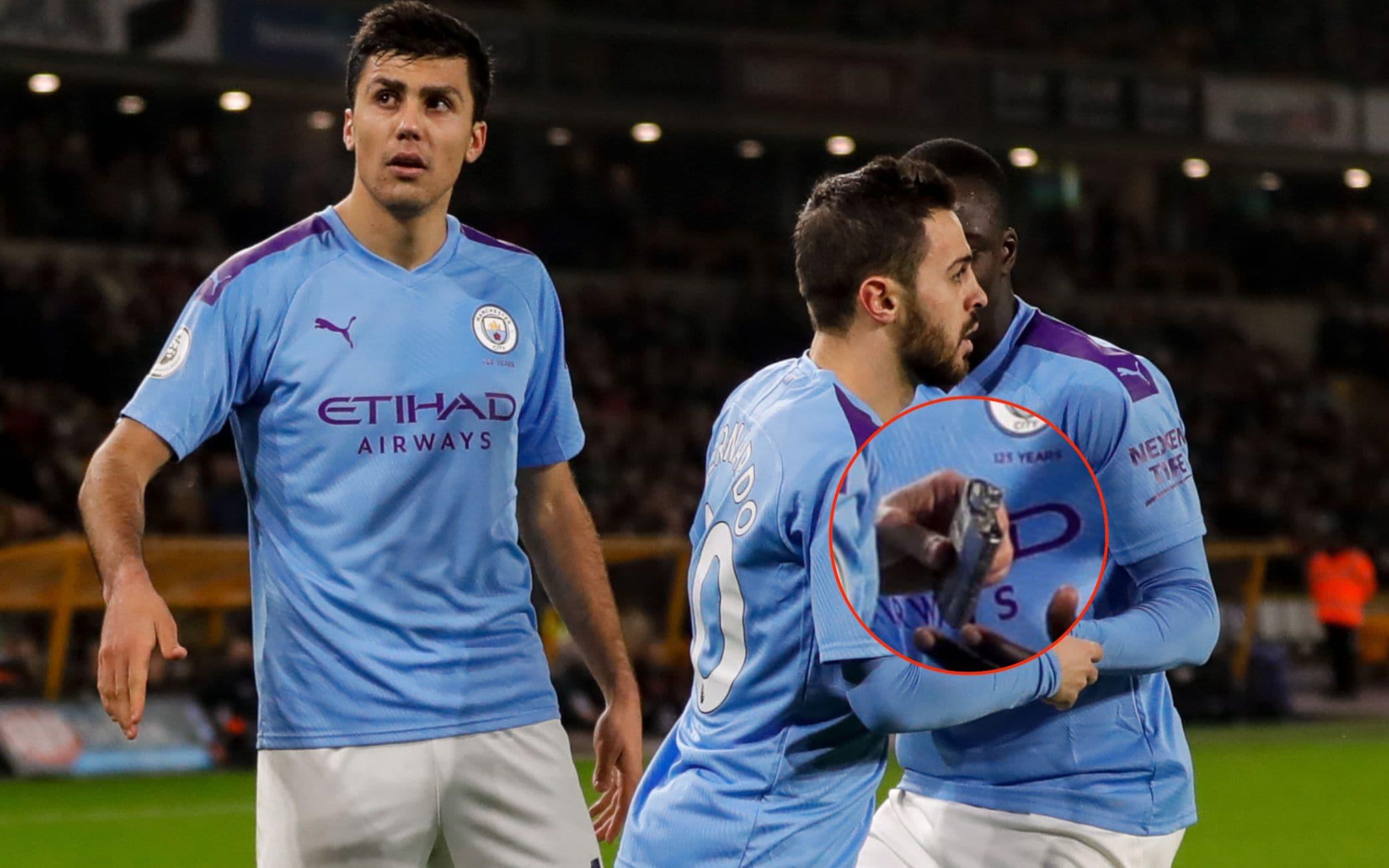 Bernardo Silva raccoglie la fiaschetta in Wolves-Man City