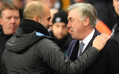 Guardiola stoppa Ancelotti, City batte Everton 2-1