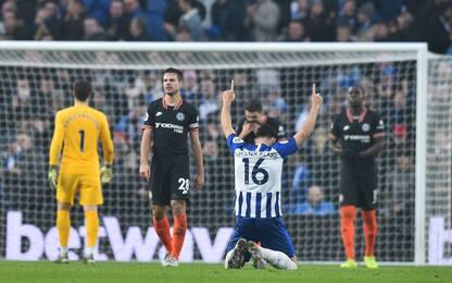 Una magia frena il Chelsea: è 1-1 con il Brighton
