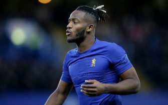 LONDON, ENGLAND - JANUARY 05: Michy Batshuayi of Chelsea during the FA Cup Third Round match between Chelsea FC and Nottingham Forest at Stamford Bridge on January 05, 2020 in London, England. (Photo by Robin Jones/Getty Images)