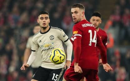 Liverpool-Manchester Utd 1-0 LIVE: gol di Van Dijk