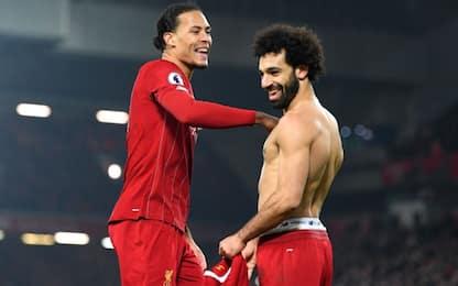 Van Dijk-Salah, United ko: Liverpool non si ferma