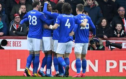 Iheanacho-gol, il Leicester va avanti in FA Cup