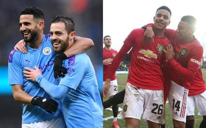 City e United, goleade e passaggio del turno