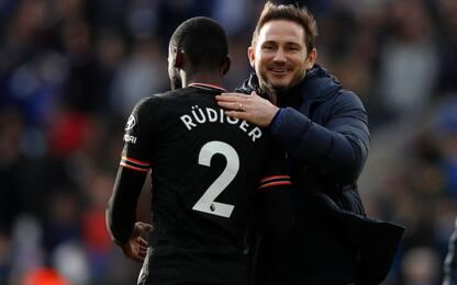 Rudiger salva il Chelsea: 2-2 contro il Leicester