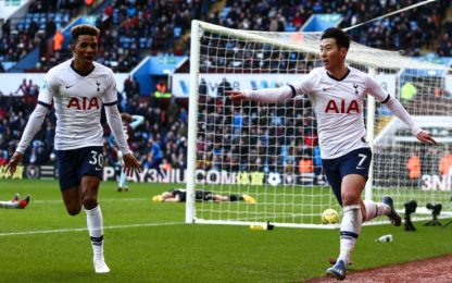 Son punisce l'Aston Villa: 3-2 Tottenham al 94'