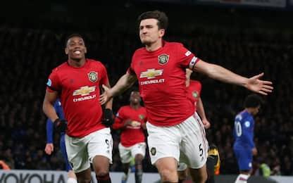 Martial-Maguire, colpo United: Chelsea battuto 2-0
