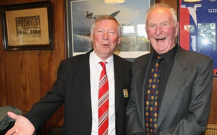 Gregg con Alex Ferguson