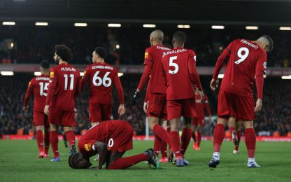 Liverpool, 18 vittorie di fila: West Ham beffato