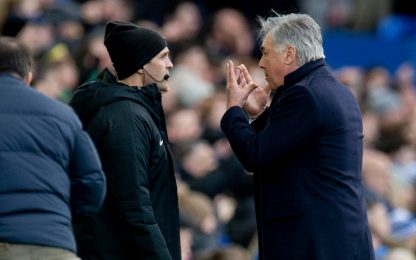Var annulla il gol, furia Ancelotti: espulso