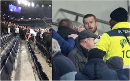Mou ko in FA Cup, Dier si scaglia contro un tifoso