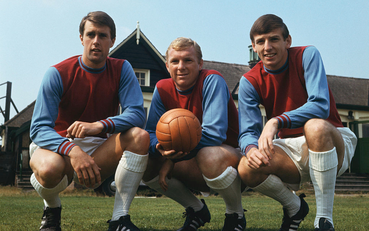 Geoff Hurst, Bobby Moore e Martin Peters