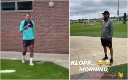 Liverpool, che buongiorno di Klopp a Van Dijk