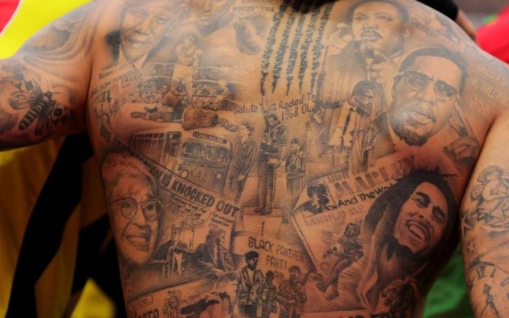 I tatuaggi di Gray dedicati a personaggi che hanno lottato per i diritti civili
