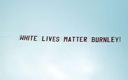 "Aereo sullo stadio del City: ""White Lives Matter"""