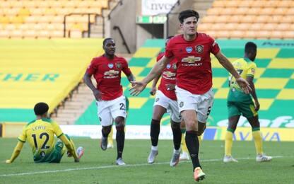Lo United soffre, Maguire gli regala la semifinale