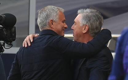 Mou mantiene la promessa e abbraccia Ancelotti
