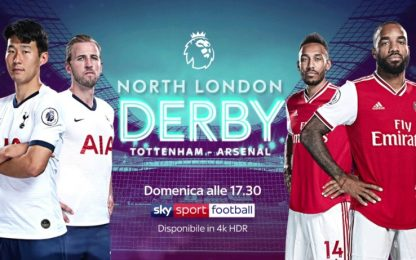 Superderby a Londra: domenica Tottenham-Arsenal
