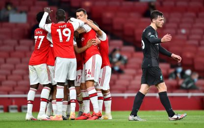 Colpo Arsenal col Liverpool, scatto Europa Spurs