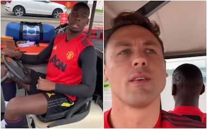 """Pogba fa l'autista, passaggio a Matic sul """"taxi"""""""
