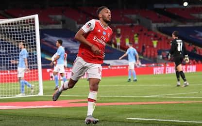 Doppio Aubameyang, City ko 2-0 e Arsenal in finale